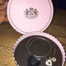 NWT JUICY COUTURE TWO SILVER BANGLES SET CROWN HEART BRACELETS  RETIRED