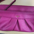 JUICY COUTURE Bright PINK Clutch Wallet  Pleated Faux Leather Wristlet NWOT