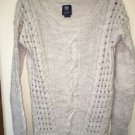 American Eagle Wool Alpaca Blend Cable Knit Boat Neck Sweater ~ SZ Small Soft