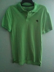 Men's Medium Green Express Short Sleeved Polo Shirt