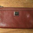 Nwot Dooney & Bourke Pebble Brown Leather*Slim Large Wristlet $98 RP