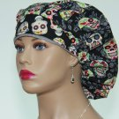Bouffant Surgical Scrub Cap-Handmade-Nurse Cap-Medical Scrub Cap-Anesthetist Scrub Cap-100% Cotton.