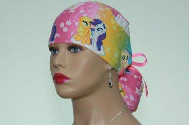 Ponytail Scrub Cap-Surgical Scrub Cap-Handmade-Medical Cap-Nurse Cap-