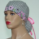 Ponytail Scrub Cap-Surgical Scrub Cap-Handmade-Medical Cap-Nurse Cap-