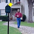 MAILBOX ALERT FLAG - MAIL ARRIVE - MAILBOXES