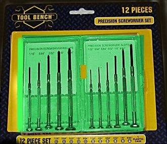 Tool Bench 12 Piece Precision Screwdriver Set