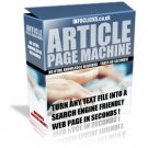 Article Page Machine - Lowest Price on the Net