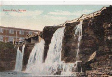 CK25. Vintage Postcard. Rideau Falls. Ottawa, Canada