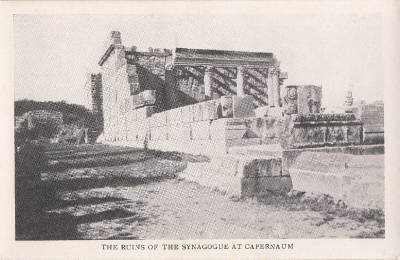 CG75.Vintage Postcard.Ruins of the Synagogue at Capernaum.Israel