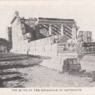 CG75.Vintage Postcard.Ruins of the Synagogue at Capernaum.Israel