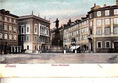 CN16. Vintage Italian Postcard. Piazza Giuseppina. Trieste. Italy.
