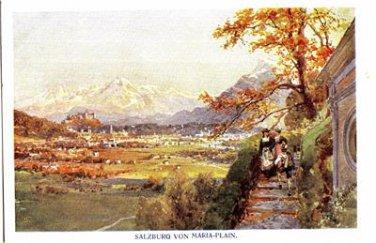 CR15. Postcard. Salzburg Von Maria-Plain. Artist Signed.