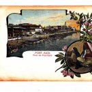 CL95.Vintage Egyptian Postcard. Port of Said. Egypt