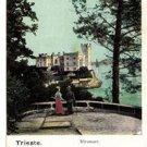 CI06. Vintage Postcard. Miramire Castle. Trieste. Italy.