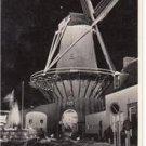 CO75.Vintage Dutch Postcard. The Mill Sluice. At Night.