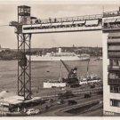 CL79.Vintage Postcard.Port and ships. Stockholm, Sweden.