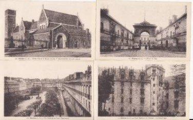 BZ091.Vintage Postcards x 4. Views of Nantes,France.