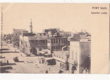 CE04.Vintage Postcard. The Arab Quarter. Port Said. Egypt