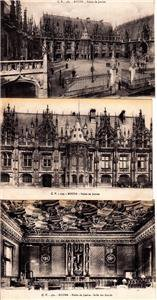 BZ116. Vintage Postcards X 3. Views of Rouen. France. Palais de Justice.