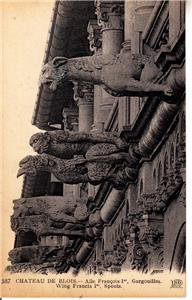 CO93. Vintage French Postcard. Gargoyles. Chateau de Blois. France