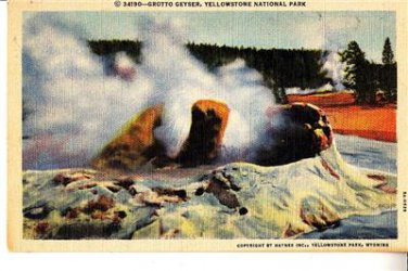 CQ32. Vintage US Postcard. Grotto Geyser, Yellowstone National Park