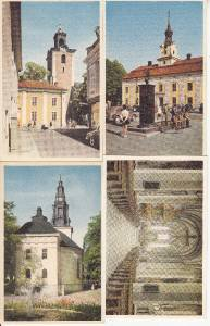 BZ032.Swedish Postcards x 4.Linkoping,Nykoping,Jonkoping