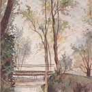 CK16.Vintage Postcard.The Bridge at Epau near Le Mans. France. Signed