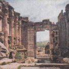 CK09. Vintage Postcard. Interior of the Temple of Bacchus, Baalbek, Lebanon.
