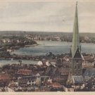 CI37.Vintage German Postcard.Hamburg Blick V D Catharinenkirche