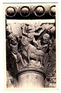 CO15. Postcard.  The Basilica Capital. The Golden Calf. Vezelay, (Yvonne) France