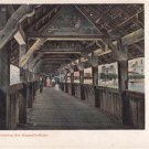 CK24.Vintage Postcard. Inside the Chapel Bridge. Lucerne.Switzerland.