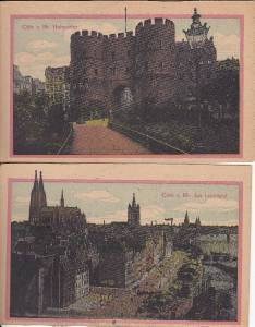 BZ057.Vintage Postcards X 2. Cologne/Coln a Rh. Hahnentor/ Am Leystapel