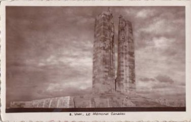 CK37.Vintage French Postcard. The Canadian War Memorial. Vimy. France