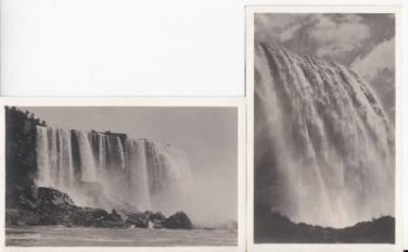 BZ047.Vintage Postcards.Unidentified waterfalls x 2.