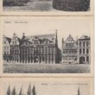 BZ068.Vintage Postcards x 6.Buildings in Tournai, Belgium