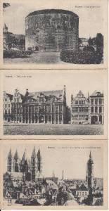 BZ068.Vintage Postcards x 6.Buildings in Tournai, Belgium