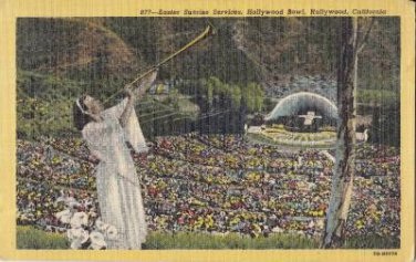 CH17.Vintage US Postcard.Easter Sunrise Services.Hollywood Bowl, California