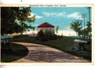 CM61. Vintage Canadian Postcard. MacDonald Park, Kingston. Ontario.