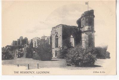 CM91.Vintage Undivided Postcard. The Residency, Lucknow. India.
