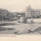 CM83.Vintage Undivided Postcard. Esplanade Road, Bombay. India.