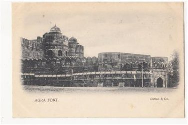 CH94.Vintage Undivided Postcard. The Fort, Agra. India.
