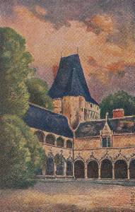CI08.Vintage Postcard.Sid's Oil Paintings. Chateau d'Argy, France