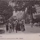 CL85.Vintage Postcard. People walking in Hoheweg, Interlaken. Switzerland