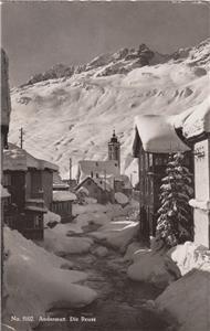 CM14.Vintage Swiss Postcard. Andermatt. Die Reuss. Switzerland. River Reuss