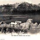 CP07.Vintage Postcard. Les Alpes de Savoie vues de Caux.Mountain view.