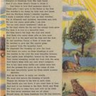 CM99.Vintage US Postcard. Song.Texas a Paradise by the author of Hell in Texas.