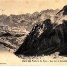 CP08.Vintage Swiss Postcard.Ligne des Rochers de Naye. Vue sur la Gruyere
