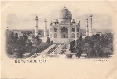 CN02.Vintage Undivided Postcard. The Taj Mahal, Agra. India.