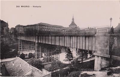 CD90.Vintage Postcard.The Viaduct. Madrid. Spain.