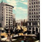 CP38. Vintage Canadian Postcard.Main Street from City Hal Sq. Winnipeg. Manitoba